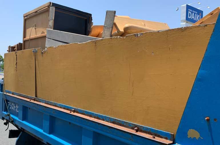 2トン車積み放題で不用品回収