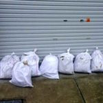 土嚢袋で浸水対策